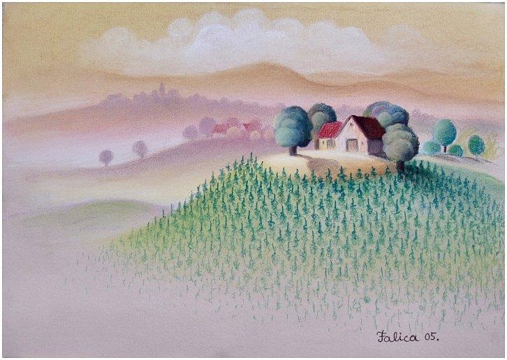 In a vineyard
