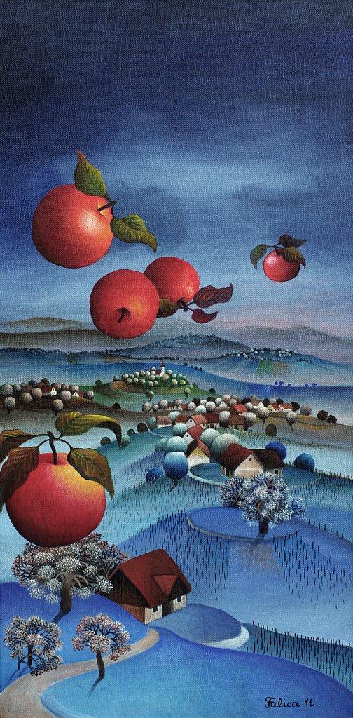 Flying apples